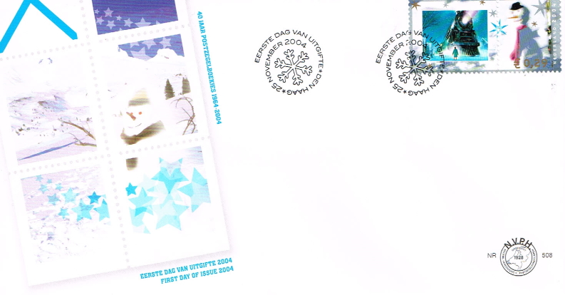 FDC personalized December stamp 2004