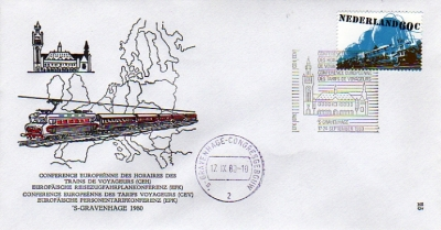 FDC: Conference of Passenger Rail Transport Companies about rates, The Hague, 17-24 September, 1980