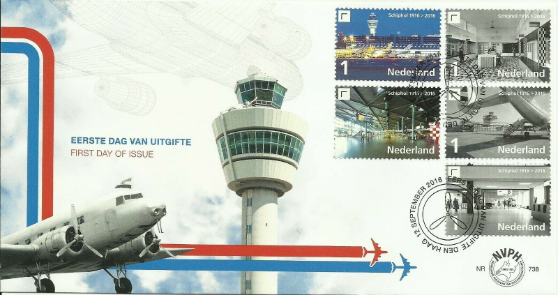 FDC: Schiphol 2016