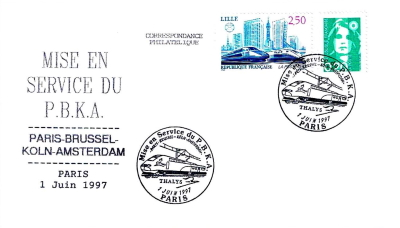 FDC: France with Thalys, 1997